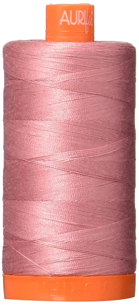 Aurifil Mako Cotton Thread Solid 50wt 1422yds Victorian Rose