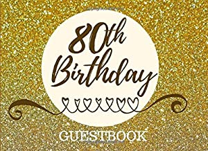 Best 80th birthday guest book ideas Reviews
