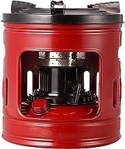 Wsjfc Quemador de Estufa de Queroseno para cocinar al Aire Libre, Metal a Prueba de Viento 10 mechas Horno de Queroseno Estufa portátil Estufa de Camping, Rojo
