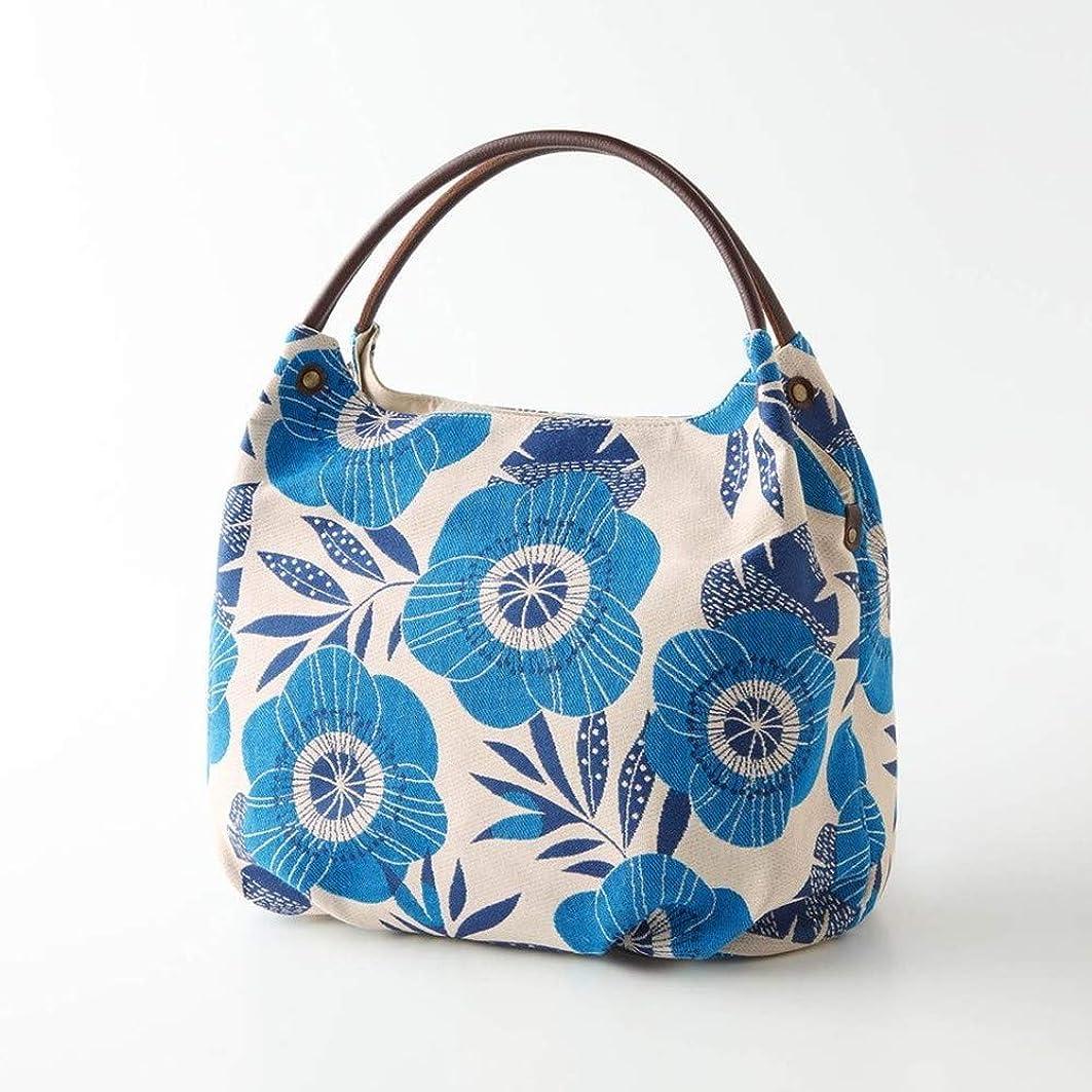 オーナメントファーザーファージュ祖父母を訪問[ベルメゾン] バッグ カバン 鞄 レディース ミニラボ スペイン製のゴブラン織り生地使いトートバッグ 日本製 カラー ブルー系