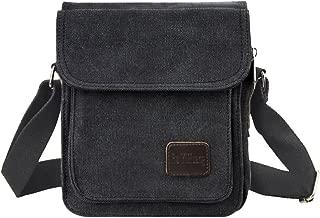 Men Boys Canvas Vintage Messenger Bag Cross Body Bag Pack Satchel Bag Sling Shoulder Bag Rucksack
