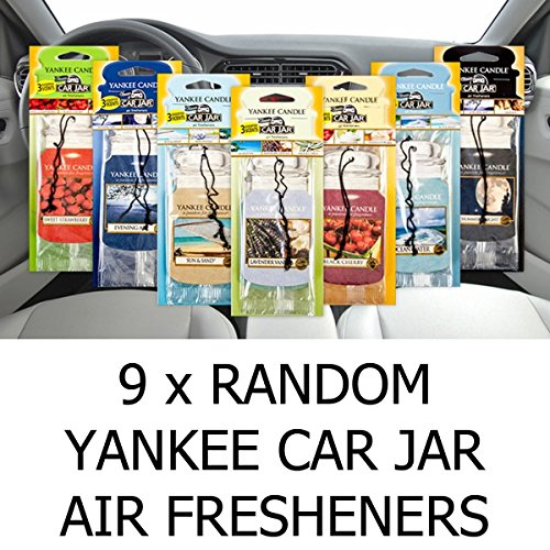 Amazing Value Pack 9x Assorted Yankee Candle Car Jar Air Hanging Air Fresheners by Yankee Candle