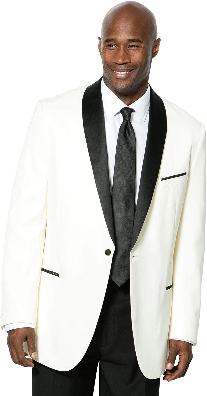 KS Signature by Kingsize Men's Big & Tall Tuxedo Jacket - Tall - 60, White