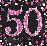 9900611 Amscan-Tovaglioli 33 cm di carta per festa 50° compleanno