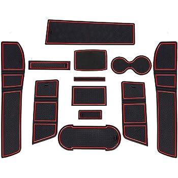 5 Seater Car Zubeh/ör Interieur rutschfeste Matten f/ür Mittelkonsole Aufbewahrungsbox Autoteile YEE PIN Gummimatten Tarraco 2019 Rot