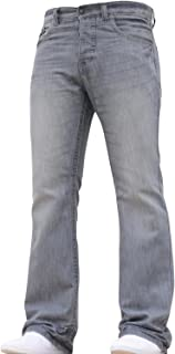 BNWT New Mens Bootcut Flared Big King Size Wide Leg Blue Denim Jeans All Waist