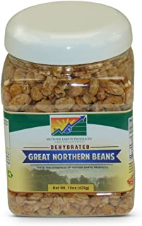 Mother Earth Products Dehydated Fast Cooking Great Northern Beans, quart Jar