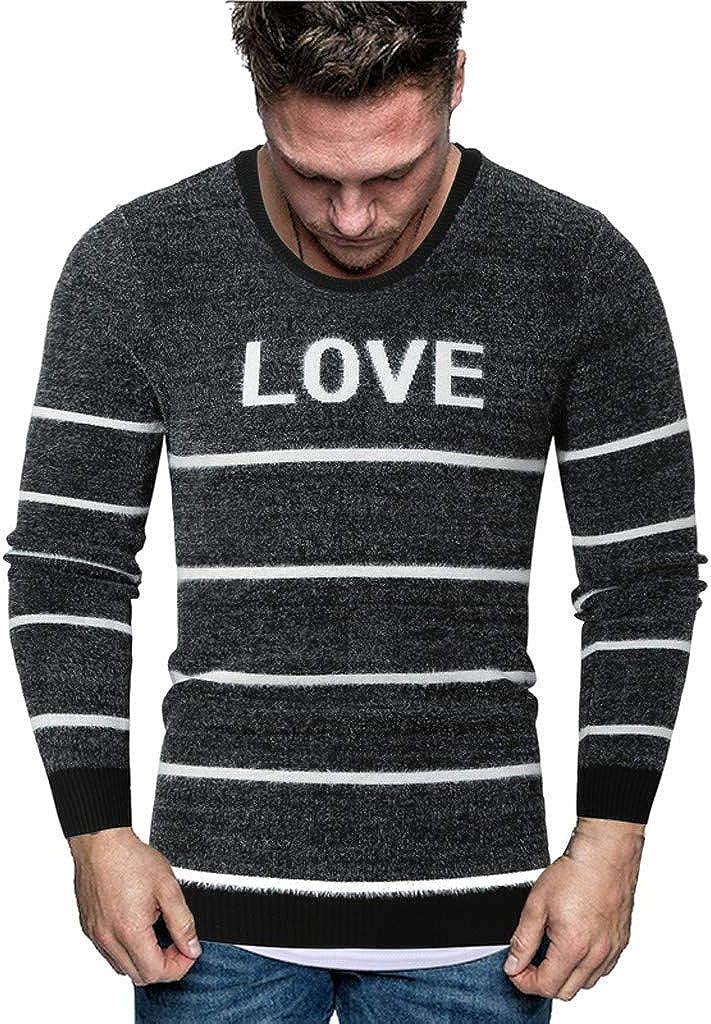 Men's Pullover Sweater Long Sleeve O-Neck Warm Soft Winter Knitwear Outwear Top