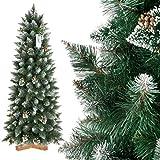 FairyTrees Árbol de Navidad Artificial Slim, Pino Verde Natural...