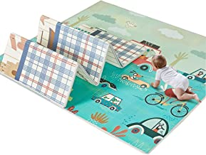 Foam Puzzle Mat Infant Crawling Mat Crawling Mat Foldable Child Carpet XPE Plus Thick Household Available On Both Sides, 4 Styles (Color : C-200x180x1cm)
