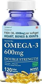 Carbamide Forte Omega 3 Fish Oil 1000mg Double Strength (330mg EPA & 220mg DHA) - 120 Softgels