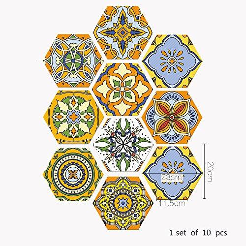 YSDDM Badmat Waterdichte Vloerstickers Marokkaanse Stijl Huisdecoratie Tegel Sticker Anti-slip Zelfklevende Stickers voor Woonkamer Decal-in Muurstickers van Huis & Tuin