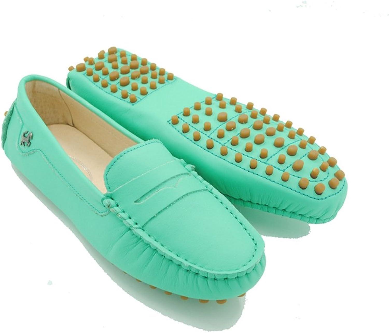 Doris Fashion Women's Nubuck Cowhide Slip-on Loafer Flats Driving Moccasin Work shoes