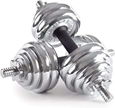 30 Kg Chrome Dumbbell Set, Silver