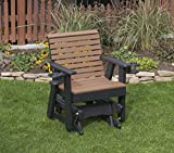 Ecommersify Inc Cedar-Poly Lumber ROLL Back Poly Resin 2 FEET Patio Garden Traditional Glider with Cupholder arms Heavy...