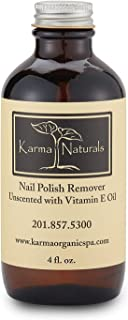 KARMA ORGANIC SPA Unscented Nail Polish Remover, 4 OZ
