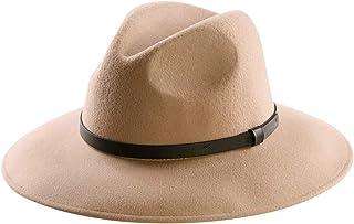 40ad41d1 Wool Felt Hat,Wide Brim Fedora Hats Men Women Trilby Outback Cowboy Panama  Caps