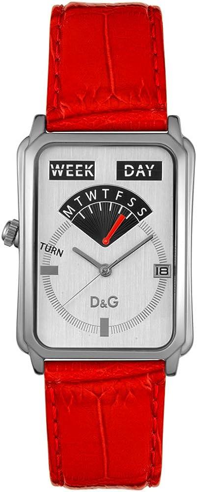 Dolce&gabbana,orologio da donna,in acciaio inossidabile e cinturino in pelle goffrata DW0123