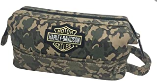 Harley-Davidson Deluxe Bar & Shield Camouflage Leather Toiletry Kit 99609 CAMO