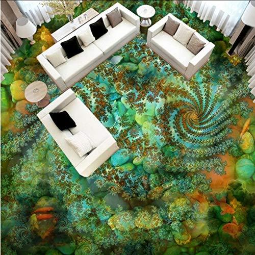 Pbbzl Groen Pool Paviljoen Aarde Schilderij winkelcentrum, personaliseerbaar, hotel, hal, behang, muur 200 x 140 cm