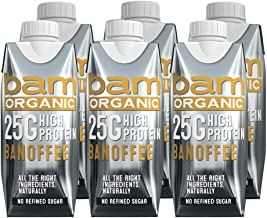Bamorganic Banoffee Protein Milk 330ml Pack of 6 Estimated Price : £ 14,99