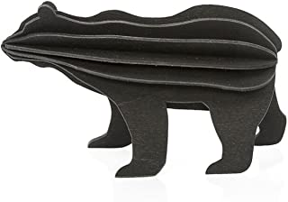 LOVI Bear 3D Decoration Black - Do-it-Yourself Bear Figure for Kid's Room - Wooden Toys & Puzzles