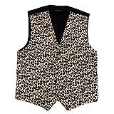 Mens Animal Print Tuxedo Vest Leopard Tiger Zebra...