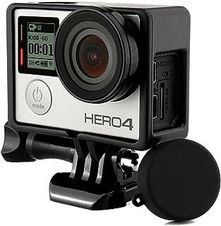 GoPro Hero 4Marco estándar para Protector Caso de Vivienda + UV Protector de Lente + Carcasa Silicona len Cap para Go Pro Hero 43+ 3