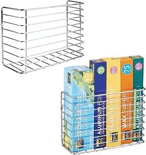 سلة تخزين أدوات المطبخ العملية من إم ديزاين لسهولة تخزين السلال السلكية المثبتة على الحائط مناسبة لأوراق الشمع المصنوعة من...