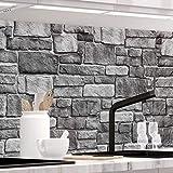 StickerProfis Küchenrückwand selbstklebend - GRANITSTEIN - 1.5mm, Versteift, alle Untergründe, Hart PET Material, Premium 60 x 220cm