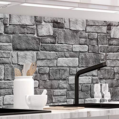 StickerProfis Küchenrückwand selbstklebend - GRANITSTEIN - 1.5mm, Versteift, alle Untergründe, Hart PET Material, Premium 60 x 340cm