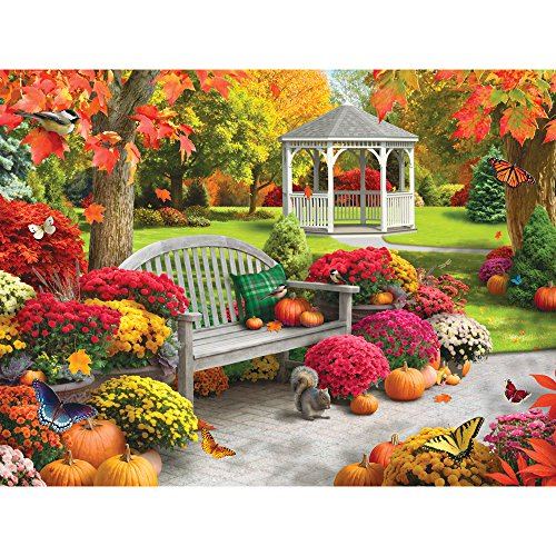 Bits and Pieces - 300 Large Piece Jigsaw Puzzle for Adults - Autumn Oasis II - 300 pc Fall Scene Jigsaw by Artist Alan Giana