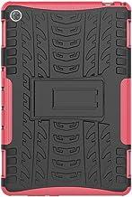 SHIEID Huawei MediaPad M5 Lite(10 Inch) Funda Tough Hybrid Armor Case,Anti caída Soporte Plegable Funda para Huawei MediaPad M5 Lite (10 Inch)(Rosa Roja)