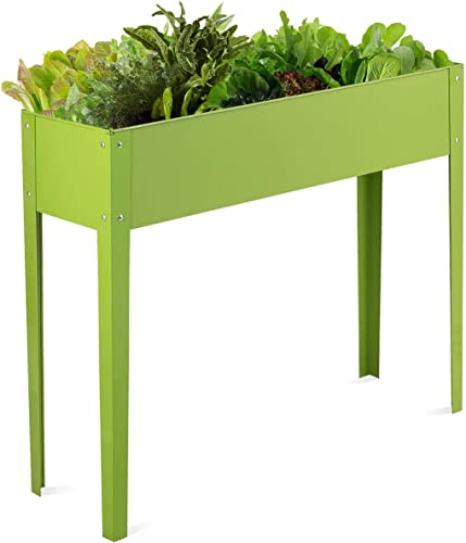 """lowest Giantex Raised Garden Bed, Elevated Planter, Metal Plant Box lowest with Legs, Standing Garden Stand,Drainage Holes, Vegetables and Flowers Growing Container wholesale for Indoor and Outdoor Use (40"""" Lx13 Wx31.5 H) outlet online sale"""