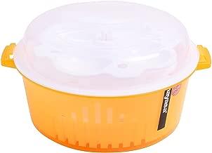NSinc – Microwave Idli Maker, Rice Cooker, Vegetable Washer, Vegetable Steamer (4 in 1) (Orange)