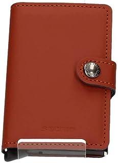 Secrid Mens Vintage Cognac Card Case Mini Wallet, Color Brown