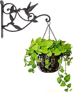Hanging Plant Hook Hummingbird Cast Iron Decorative Flower Basket Wall Hanging Hooks Bracket Hanger for Indoor Outdoor Pla...
