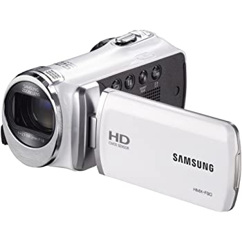 Amazon Com Samsung F90 White Camcorder With 2 7 Lcd Screen And Hd Video Recording Discontinued By Manufacturer Camera Photo