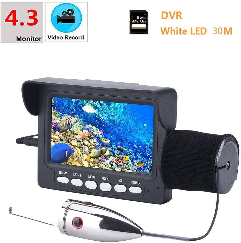 J.W. DVR-Recorder mit Sensor, 6 PCS Weilicht LED Fish Finder Für Stiefelfischen, See, 4,3  Zoll 1000tvl Unterwasserfischen HD-Videokamera-Kit mit 8G TF-Karte