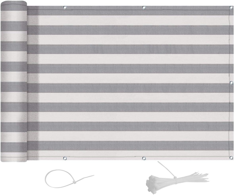 HDPE 0,75 x 5 m Antracita para balc/ón Exterior de jard/ín LOVE STORY Privacidad de balc/ón y Pantallas Protectoras Rectangular