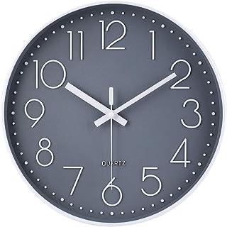 jomparis Moderne Horloge Murale silencieuse et sans tic-tac,Horloge Murale Mute Silencieuse Pendule Murale pour La Chambre...