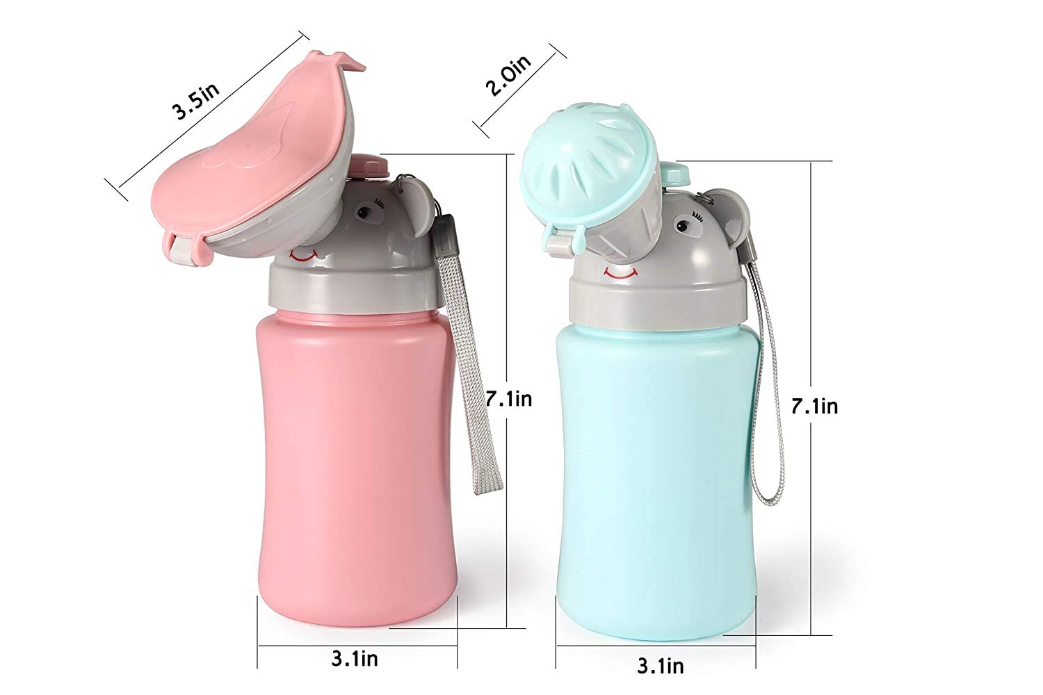 Portable Potty Travel for Car Travel Camping for Outdoor Car Travel Road Trip Camping Park Beach (Girl Pink)