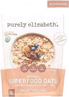 Purely Elizabeth Oatmeal - Organic - Ancient Grain - Original - 10 oz - case of 6 - 95%+ Organic - Gluten Free - Dairy Fre...