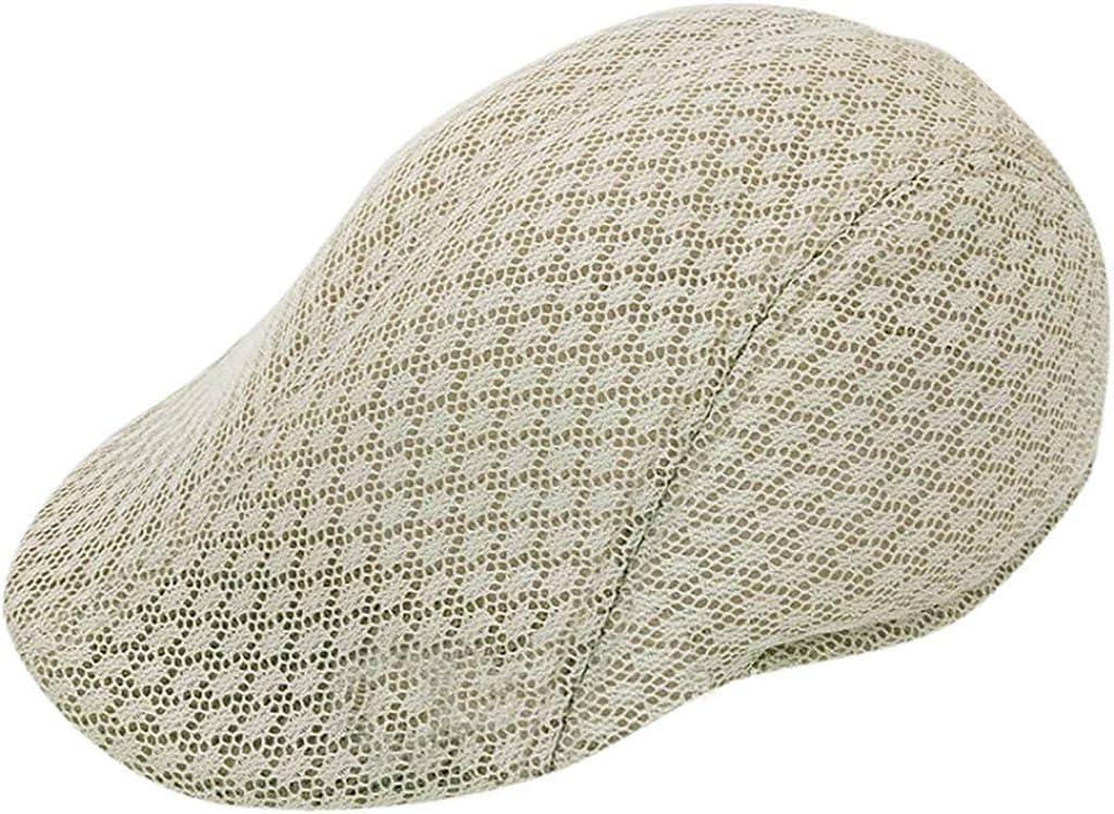 Comfortable Airy Mesh Baker Boy Hat for Men Women Modern Twist Newsboy Hat Driver Cabbie Cap Sunlucky AW2019