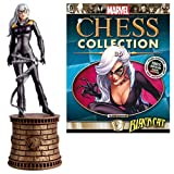 Chess Marvel Amazing Spider-Man Black Cat Black Knight Piece with Collector Magazine #86