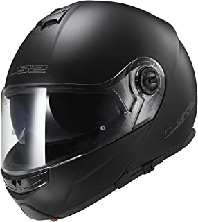 LS2 Helmets Strobe Solid Modular Motorcycle Helmet with Sunshield (Matte Black, X-Large)