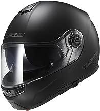 LS2 Helmets Strobe Solid Modular Motorcycle Helmet with Sunshield (Matte Black, X-Large)