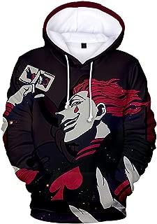 Hunter X Hunter Hisoka Unisex Hoodie 3D Printed Hooded Pullover Sweatshirt for Men Women