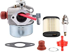 640350 Carburetor w 36905 Air Filter for Tecumseh 6.75HP LEV100 LEV120 LV195EA LV195XA Engine Toro 20017 20018 20019 20031 20051 20069 20070 20071 20072 20073 20074 Lawn Mower Spark Plug Fuel Filter