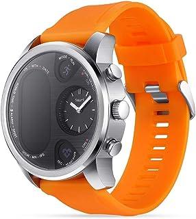 wetwgvsa Pulsera Actividad Reloj Inteligente Color Pantalla Pulsera Inteligente Pulsómetro Pulsera Podómetro, Monitor de Sueño SMS Notificación para Hombre Mujer Niños (Naranja)